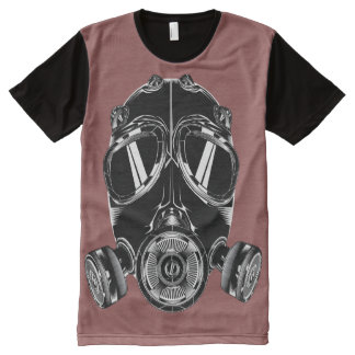 Teeshirt all over masque bordeau