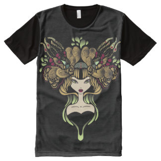 Teeshirt all over Mélusine black All-Over-Print T-Shirt