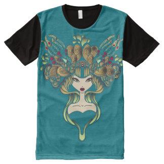 Teeshirt all over Mélusine bleu canard All-Over-Print T-Shirt