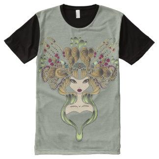 Teeshirt all over Mélusine kaki clair All-Over-Print T-Shirt