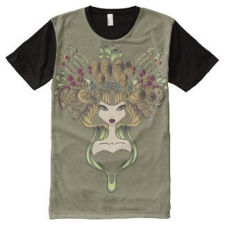 Teeshirt all over Mélusine kaki foncé All-Over-Print T-Shirt
