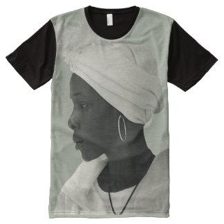 Teeshirt all over vintage black girl kaki clair
