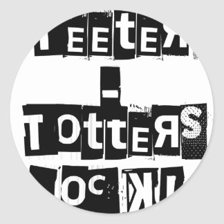 Teeter-Totters Rock Classic Round Sticker