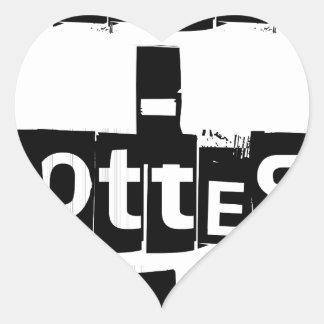 Teeter-Totters Rock Heart Sticker