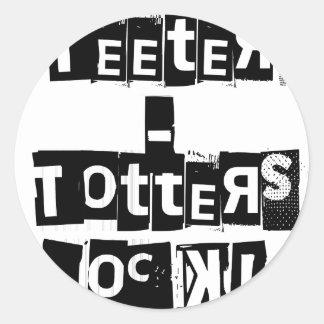 Teeter-Totters Rock Round Sticker