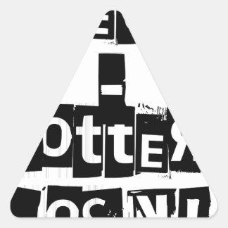 Teeter-Totters Rock Triangle Sticker