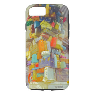 Teetering Stack of Suitcases for iPhone iPhone 7 Case