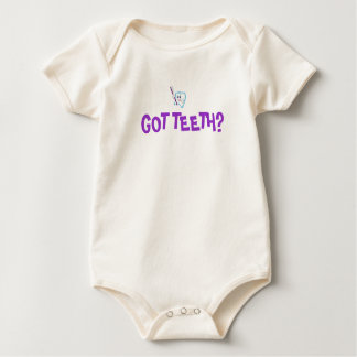 teeth-cartoon, GOT TEETH? - Customized Baby Bodysuit