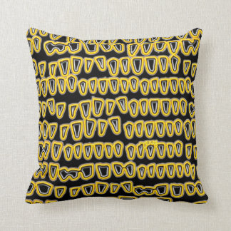 Teeth Dentist Dentistry Orthodontist yellow NEON Throw Pillow