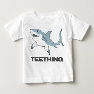 Teething shark infant T Tshirts