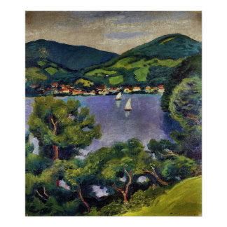 Tegern Sea landscape by August Macke Poster