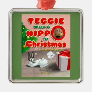 Teggie Wants a Hippo for Christmas Ornament