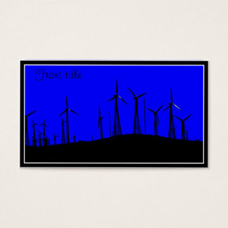 Tehachapi Wind Farm Silhouette Business Card