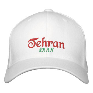 Tehran City Iran Embroidered Hat