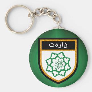 Tehran Flag Basic Round Button Keychain