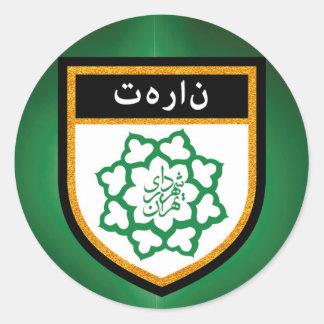Tehran Flag Round Sticker