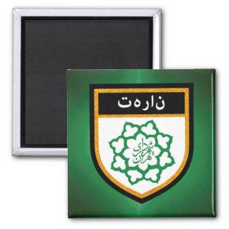 Tehran Flag Square Magnet