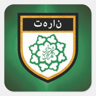 Tehran Flag Square Sticker