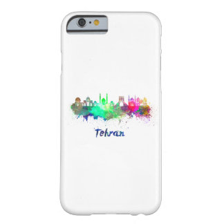 Tehran skyline in watercolor barely there iPhone 6 case