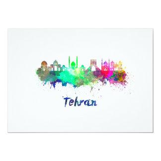 Tehran skyline in watercolor card