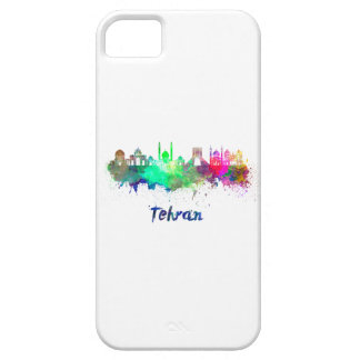 Tehran skyline in watercolor case for the iPhone 5