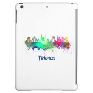 Tehran skyline in watercolor iPad air cover