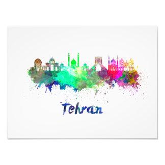 Tehran skyline in watercolor photo print