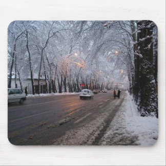 Tehran Snowy day Mouse Pad