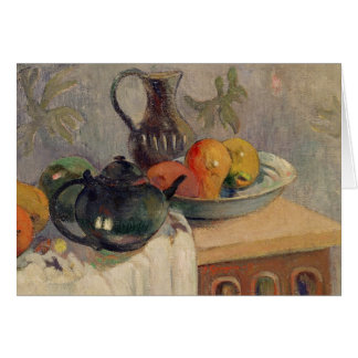 Teiera, Brocca e Frutta, 1899 Card