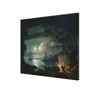 Teignmouth by moonlight canvas print
