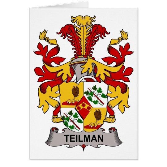 Teilman Family Crest Card