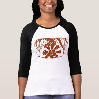 Teinte vintage de Brown d'inverse de conception T Shirt