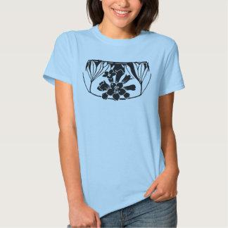 Teinte vintage de noir d'inverse de conception tee-shirt