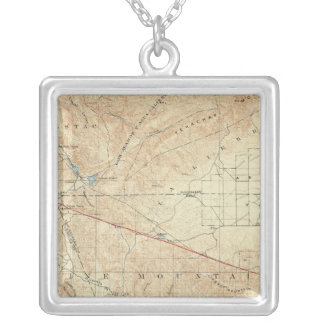 Tejon quadrangle showing San Andreas Rift Silver Plated Necklace