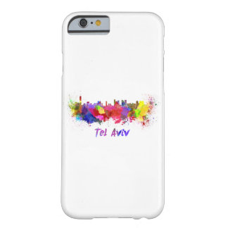 Tel Aviv skyline in watercolor Barely There iPhone 6 Case