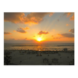 Tel Aviv Sunset Postcard