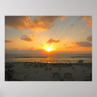 Tel Aviv Sunset Poster