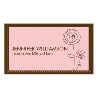 Télécarte chérie de maman de fleur (rose) carte de visite
