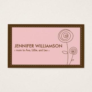 Télécarte chérie de maman de fleur (rose) cartes de visite