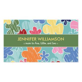 Télécarte de maman de croquis de crayon (vert) carte de visite standard