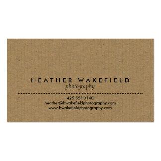 Télécarte de Papier d emballage et de photo Cartes De Visite Personnelles