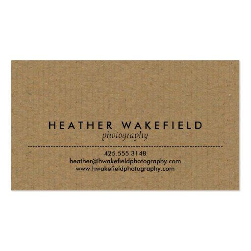Télécarte de Papier d'emballage et de photo Cartes De Visite Personnelles