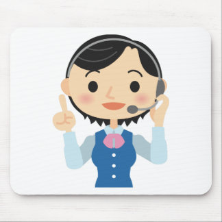 Telecom Worker Mouse Pad