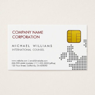 TELECOMMUNICATIONS CHIP SIM GSM MOBILE PHONE BUSINESS CARD
