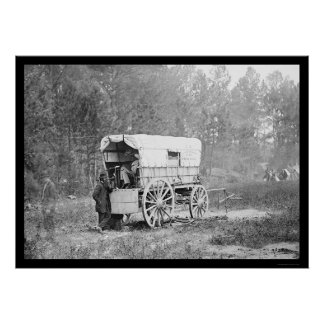 Telegraph Battery Wagon near Petersburg 1864 Poster