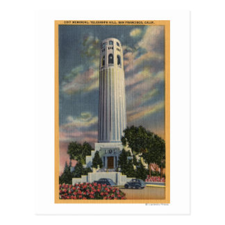 Telegraph Hill View with Coit Memorial Postcard