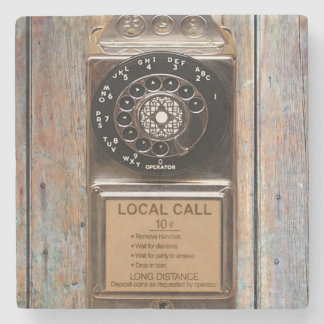 Telephone antique rotary pay phone steampunk booth stone coaster