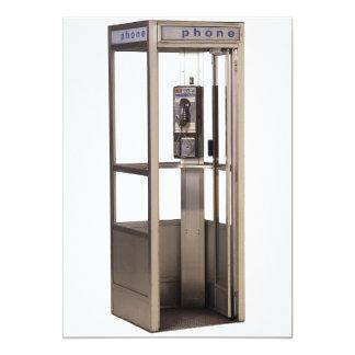 "Telephone Booth 5"" X 7"" Invitation Card"