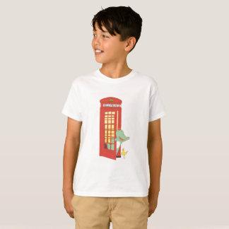 Telephone box, cute animals illustration T-Shirt