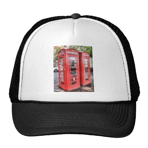 Telephone box trucker hats